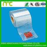 Pellicola di plastica del manicotto dell'involucro dello Shrink di calore trasparente del PVC per la bottiglia e la batteria