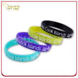 Promoção Gift Wholesale Custom Printed Silicone Wristband