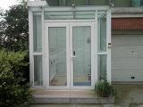 عمليّة بيع حارّ بيضاء إطار لون [أوبفك] شباك باب مع جانب لوح ثابتة