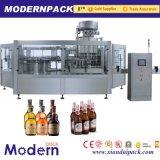 Máquina tampando engarrafada automática da cerveja Wsahing, enchimento e