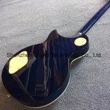 Lp электрическая гитара в черники с пламенем клена и верхней части крем (НЛП-146)