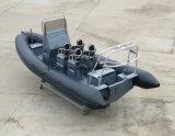 中国Aqualand 21feet 6.4mの肋骨のモーターボートかダイビングまたは釣またはレスキューまたはパトロールまたは堅く膨脹可能な漁船(RIB640T)
