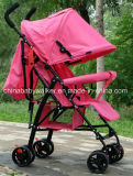 Розовая прогулочная коляска младенца 622
