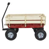 Le chariot extérieur tout le terrain tirant avec de l'air en bois de pêche à la traîne fatigue le jardin de gosse d'enfants