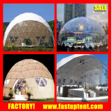 20mは鋼鉄管の測地線ドームの玄関ひさしのテントのスポーツ・イベントに電流を通す