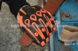 Lugares de Trabajo mecánico Glove-Heavy Glove-Safety Glove-Oil&Glove-Gloves Gas Luz Guante de elevación