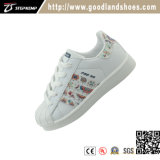 Classic Kids chaussures occasionnel Skate PU Blanc Chaussures 16001N-1