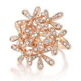 Boucle annexe de Jewerlry de mode d'or de Rose de mode avec le cristal clair