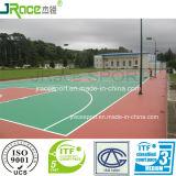 De elastische RubberVloer van het Hof van het Basketbal van de Buffer Openlucht