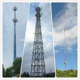 Оцинкованные стальные угла Monopole Guyed маскировочные цвета дерева трубчатая башня Телеком связи мобильной связи в корпусе Tower
