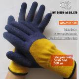 Mesures K-134 10 5 gants fonctionnants de sûreté de latex de Polycotton d'amorçages