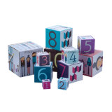 El papel rígido impreso colorido al por mayor de los niños jerarquizó los rectángulos de regalo decorativos