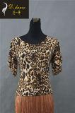 Новые латинские куртка + леопард костюма гонки окаимили портняжничанную юбку,