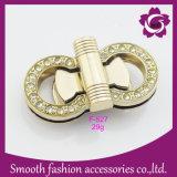 Rhinestone accessorio del diamante della serratura del sacchetto di girata di torsione del hardware del metallo di modo
