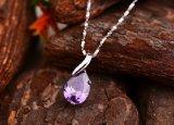 ネックレスのペンダントによって個人化される水晶Waterdopの吊り下げ式の宝石類の水晶のペンダント