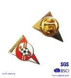금속 축구 로고 (XD-03127)를 가진 주문 삼각형 사기질 기장