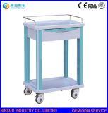 Carros do tratamento médico do ABS 2-Tier da finalidade da mobília do hospital multi/trole