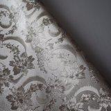 Retro cuoio del PVC di disegno del fiore per l'ornamento dell'hotel del coperchio della parete