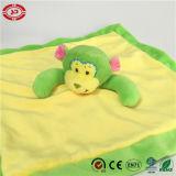 Amarelo suave de fantasia Monkey Cuidados Lavar Manta bebê de pelúcia