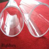 Grande pureté chauffant le tube transparent de tectite