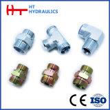 Adaptateur hydraulique droit de boyau de tube avec la noix d'émerillon (3C/3D)