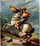 높은 산을 교차해 고명한 유화 나폴레옹의 재생산