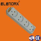 Zoccolo elettrico di estensione con terra e l'interruttore (E5005ES)