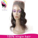 Capelli non trattati superiori Barzilian del corpo umano della parrucca dei 360 merletti