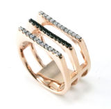 Anello dell'argento di prezzi di fabbrica con la perla per l'uomo (R1058-4)