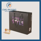 Zwarte Matt Paper Bag met Logo en Handle (cmg-mei-035)