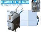 Q switched ND YAG Laser Máquina para tatuagem Freckle extracção