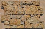 حارّ أصفر طبيعيّة أردواز حجارة لأنّ هندسة وجدار زخرفة