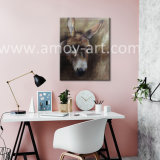 Pitture a olio animali Handmade della testa dell'asino per la decorazione della parete