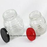 Selben konzipieren (150ml&300ml) ovalgeschnittenes Glashonig-Glas