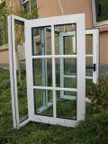 판매를 위한 UPVC 여닫이 창 Windows를 이중 유리를 끼우는 Topbright