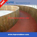 Azulejo de goma de bloqueo para patio de recreo / pavimento de goma de seguridad de azulejos.