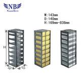 """Estantes verticales del acero inoxidable para el congelador del pecho con 2 """" rectángulos"""