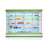 Urpright 유리제 문 슈퍼마켓을%s 상업적인 전시 냉장고