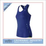 Полиэфира Gymwear Sportswear женщин верхняя часть бака Dri изготовленный на заказ подходящая