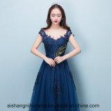 Neue Art-reizvolle Schatz-Marine-Blau-Abend-Kleider