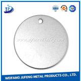 Personnalisé autour du laiton/de tôle en acier/en aluminium estampant le blanc
