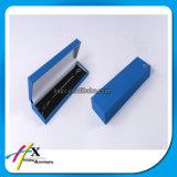 زرقاء بلاستيكيّة ورقيّة مجوهرات مدلّاة مجموعة مخمل صندوق مع علامة تجاريّة طباعة