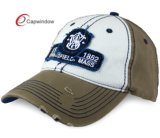 Gewaschene Baseballmütze mit Applique-Firmenzeichen auf Sport-Schutzkappe