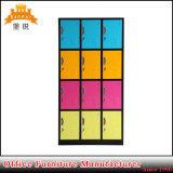 Portes bon marché en métal Wardrobe-12 de la promotion Jas-031 avec le blocage de garniture