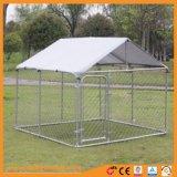 Hochleistungskettenlink-Hundehundehütte mit Schatten