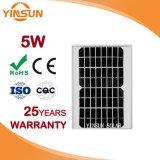 El panel solar monocristalino directo de la venta 5W de la fábrica