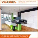 Gabinetes de cozinha lustrosos modernos da laca com alta qualidade