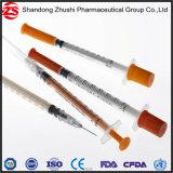 Orange Schutzkappen-Wegwerfinsulin-Spritze 0.05ml