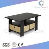 Foshan Muebles de oficina en blanco elegante café mesa escritorio con patas de metal (CAS-CF1802)