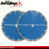 Lámina de corte de hormigón láser segmentado diamante Turbo de D230mm